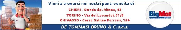 Visita i punti vendita BigMat De Tommasi a Chieri, Torino e Chivasso