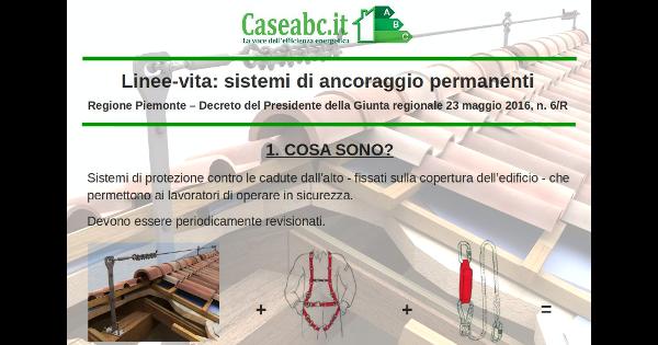 Linea-vita in Piemonte: scarica l'infografica